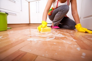 kitchen floor cleaning Newport