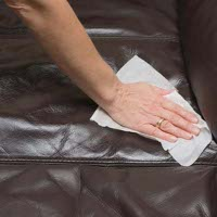 leather upholstery cleaning Indented Head