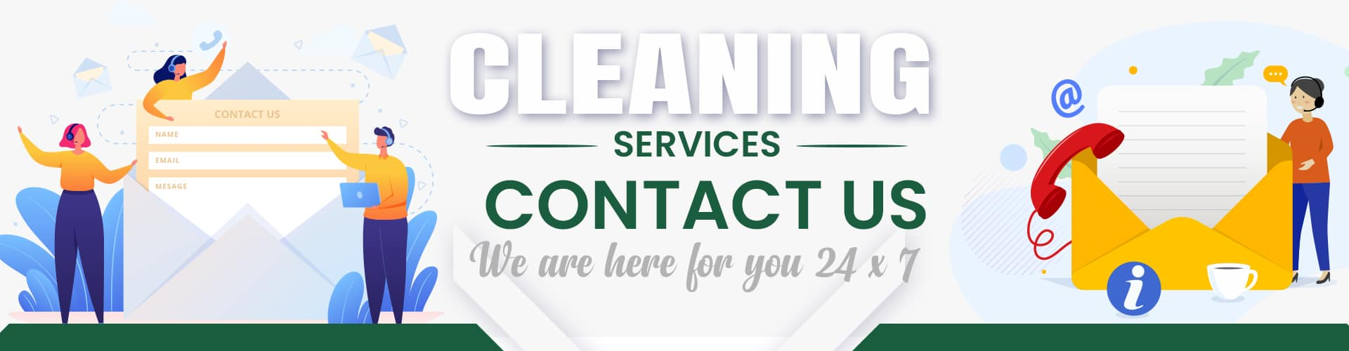 Contact Us For Cleaning Services